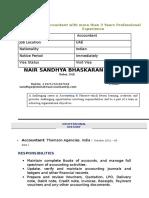 Sandhya New CV