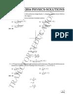 IIT Jam 2016 Physics Solutions