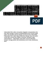 Identifikasi Objek Dengan Teknik Interpretasi Foto Udara