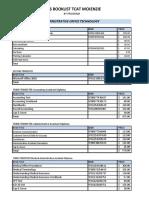 2015 Programs Book List Prices