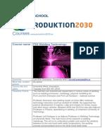 p24 Course Description Welding Technology Courseplan 2016