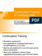 Continuation Training of Certifying Staff