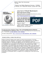 Knight 1987, CAN BUSINESS SCHOOLS PRODUCE ENTREPRENEURS? AN EMPIRICAL STUDY