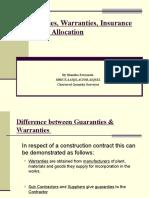 Guarantees,Warranties & Insurance.ppt