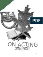 "Sanford Meisner  ""On Acting"""
