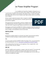 Power Amplifier Program Documentation