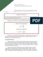 Faraday law