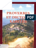 Proverbes Dictons Kabyles