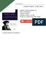 Por Que Nao Sou Calvinista