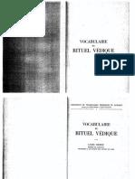 Louis Renou-Vocabulaire Du Rituel Védique-C. Klincksieck (1954)