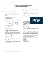 Matrix Analysis - Alternative Formulation of the Stiffness Method - Summary and Examples
