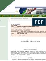 Sentenza Corte Costituzionale 238 Del 2009