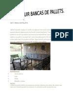 Cap v. Bancas de Pallets.