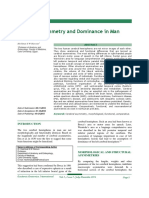 Cerebral Asymmetry and Dominance in Man.