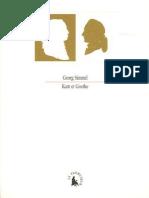 Georg Simmel, Pierre Rusch-Kant Et Goethe_ Contributions à l'Histoire de La Pensée Moderne-Gallimard (2005)