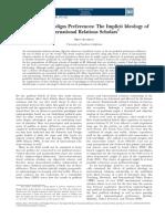 Politics and Paradigm Preferences