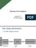 DSP Lect 11 Iir Design
