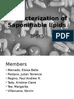 Characterization of Saponifiable Lipids