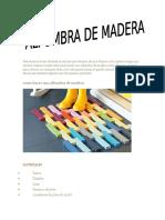 Cap. x Alfombra de Madera.