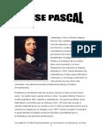 Biografía Blaise Pascal