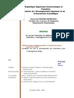 Méthode d'Analyse Multidimensionnelle Et l'Évaluation Des Sols de La Plaine Du Bas Cheliff
