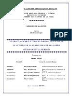Hydrodynamique Et Modelisation de La Nappe Alluviale de La Plaine de Sidi Bel Abbès (Nord-Ouest Algérien)