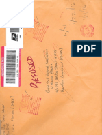 MST Registered Mail Rejected