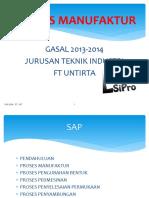 Proses MAnufaktur Gasal 20152016 Pengecoran 9