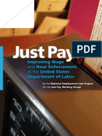 NELP Just Pay Report2010--Improving Wage Hour Enforcement at DOL