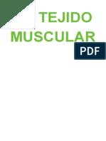 Tejido Muscular Tema 15