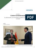 Contra La Intolerancia _ Opinión _ EL PAÍS