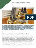Impuestos Nacionales en Colombia