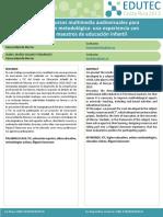 El uso de recursos multimedia audiovisuales para la renovación metodológica