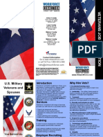 Veterans Job Brochure, Design by Jannet Walsh, June 2010