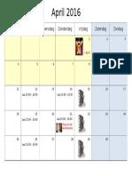 kalender april 16