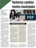 13-02-16 Consulta Monterrey cambios a 51 reglamentos municipales