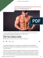 Top 3 Des Meilleurs Bcaa - Proteine&Co