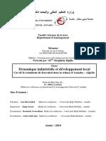 Dynamique Industrielle Et Développement Local Cas de La Commune de Berrahal Dans La Wilaya d'Annaba - Algérie