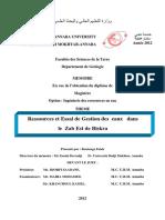 Ressources Et Essai de Gestion Des Eaux Dans Le Zab Est de Biskra.