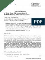 Generalized Runge Kutta Method
