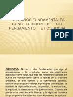 Principios Fundamentales Constitucionales Del Pensamiento Etico Social