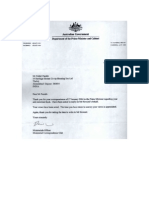 2 Different Letters from the Prime Minister of Australia .