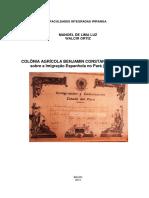Colônia Agrícola Benjamin Constant- Uma História Sobre a Imigração Espanhola No Pará (1892 - 1964)