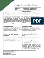 Guide Pour Le Renseignement Des Conventions de Stage