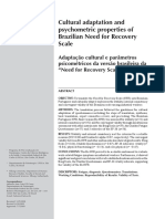 Cultural Adaptation and Psychosometric Properties of Brazilian Need for Recovery Scale