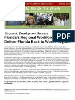 Florida Workforce Newsletter, Design by Jannet Walsh