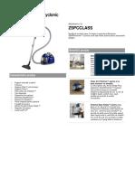 Electrolux Silentperformer Cyclonic Zspcclass