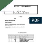 S.Y.B.tech Syllabus for COEP IT