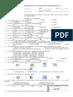 ICT 7 Assessment (Excel)