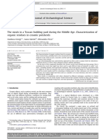 Characterization of Organic Residues in Ceramic Potsherds